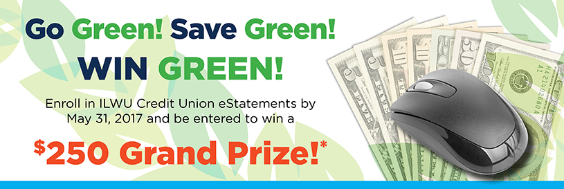 Sign up for eStatements and enter to win $250*