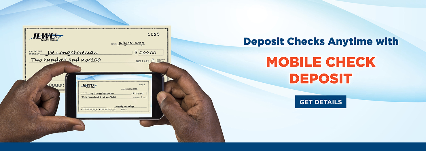 Deposit Checks Anytime with Mobile Deposit