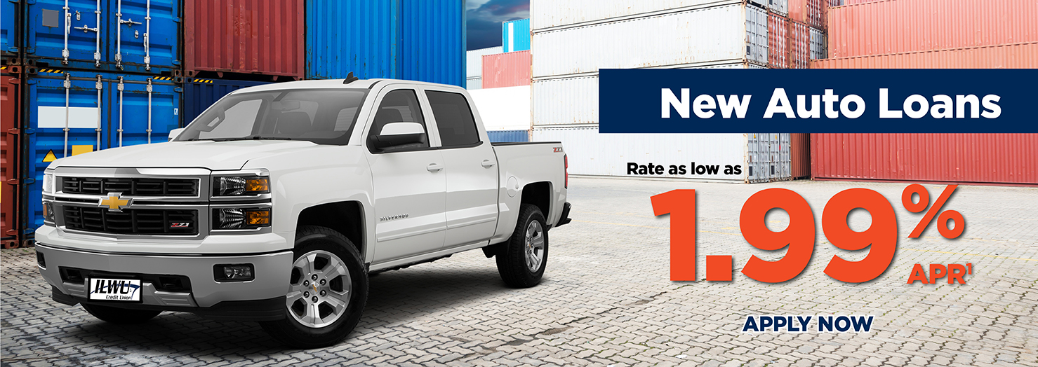 New Auto Loan Rates as low as 1.99% APR