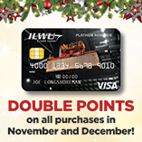 Earn Double Points in November and December with the Platinum CARGO Rewards Visa
